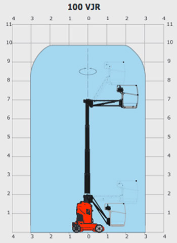 Manitou 100VJR - 9.90m Mast Boom Lift on