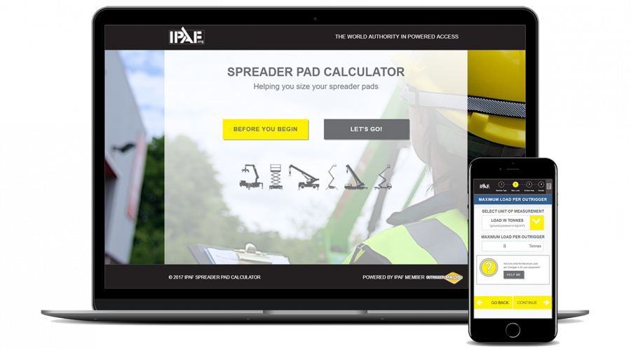 "The IPAF ""Spreader Pad Calculator"""