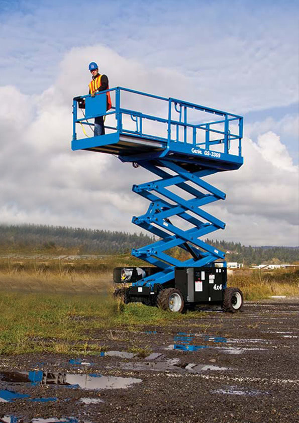 Genie GS3369 RT - 11 75m - Rough Terrain Scissor Lift